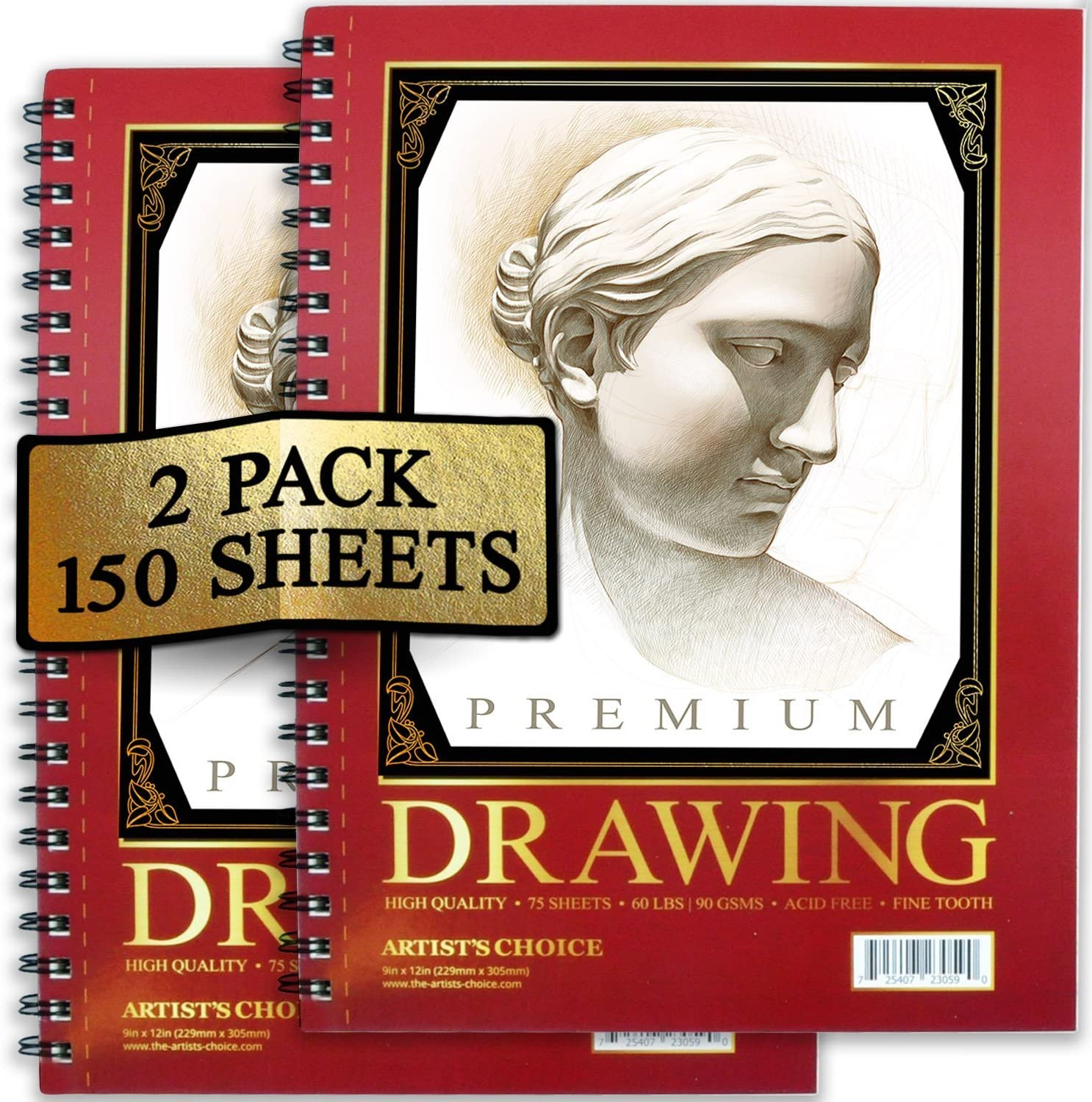 Artist's Choice Sketch Pad,75Sheets Pack of 2