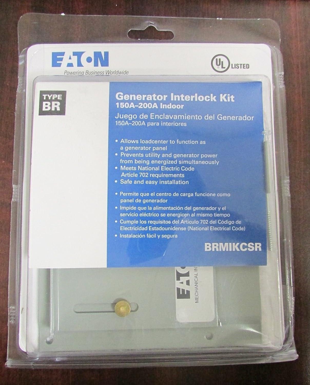Eaton Brmikcsr Single Mechanical Interlock Kit For Type Br Electrical Breakers Load Centers Fuses Circuit Breaker Panels Loadcenters Bw Csr Main Branch