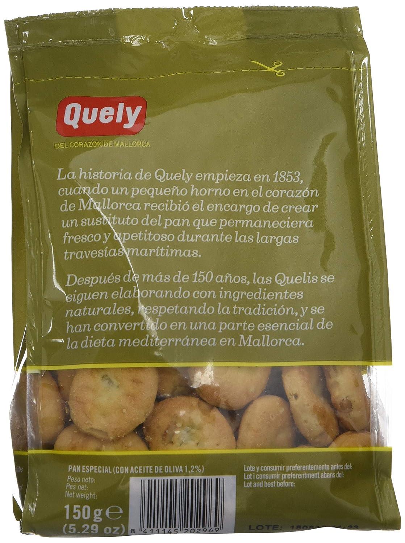 Quely, Crackers salado de agua (Quelitas con pipas) - 10 de 150 gr. (Total 1500 gr.): Amazon.es: Alimentación y bebidas