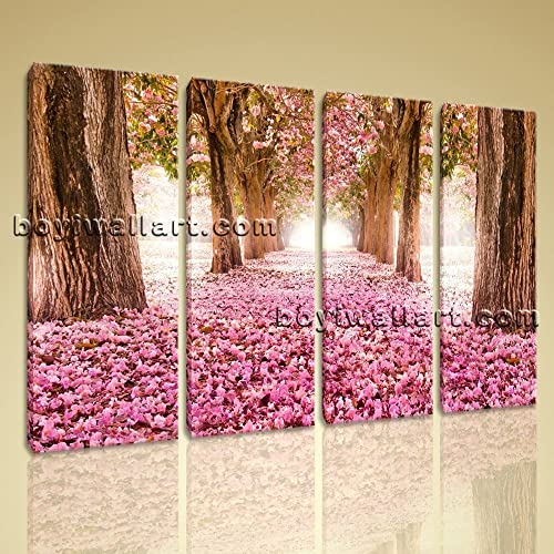 Amazon.com: Large Spring Flowers Trees Floral Contemporary Decor ...
