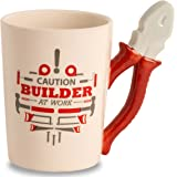 Decodyne Builder at Work Series Coffee Mug with Tool Handle for DIY Enthusiasts, Contractors, Woodworkers, Carpenters & Electricians (Plier)
