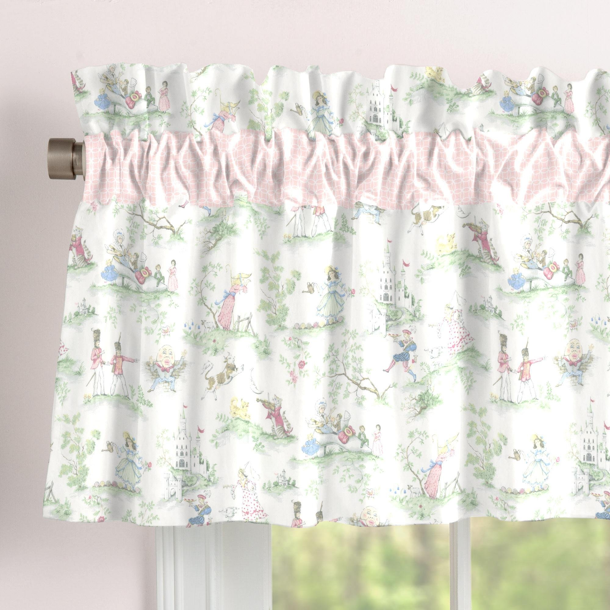 Carousel Designs Pink Over The Moon Toile Window Valance Rod Pocket by Carousel Designs