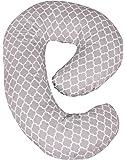 Leachco Snoogle Mini Chic - Compact Side Sleeper Pregnancy Pillow - Moroccan Gray