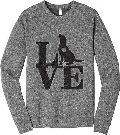 Love Golden Retriever Dog Womens Cozy Relaxed Fit Fleece Longsleeve Sweater