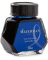 Waterman Encre pour Stylo Plume Bleu Sérénité (Effaçable) - Flacon de 50 ml