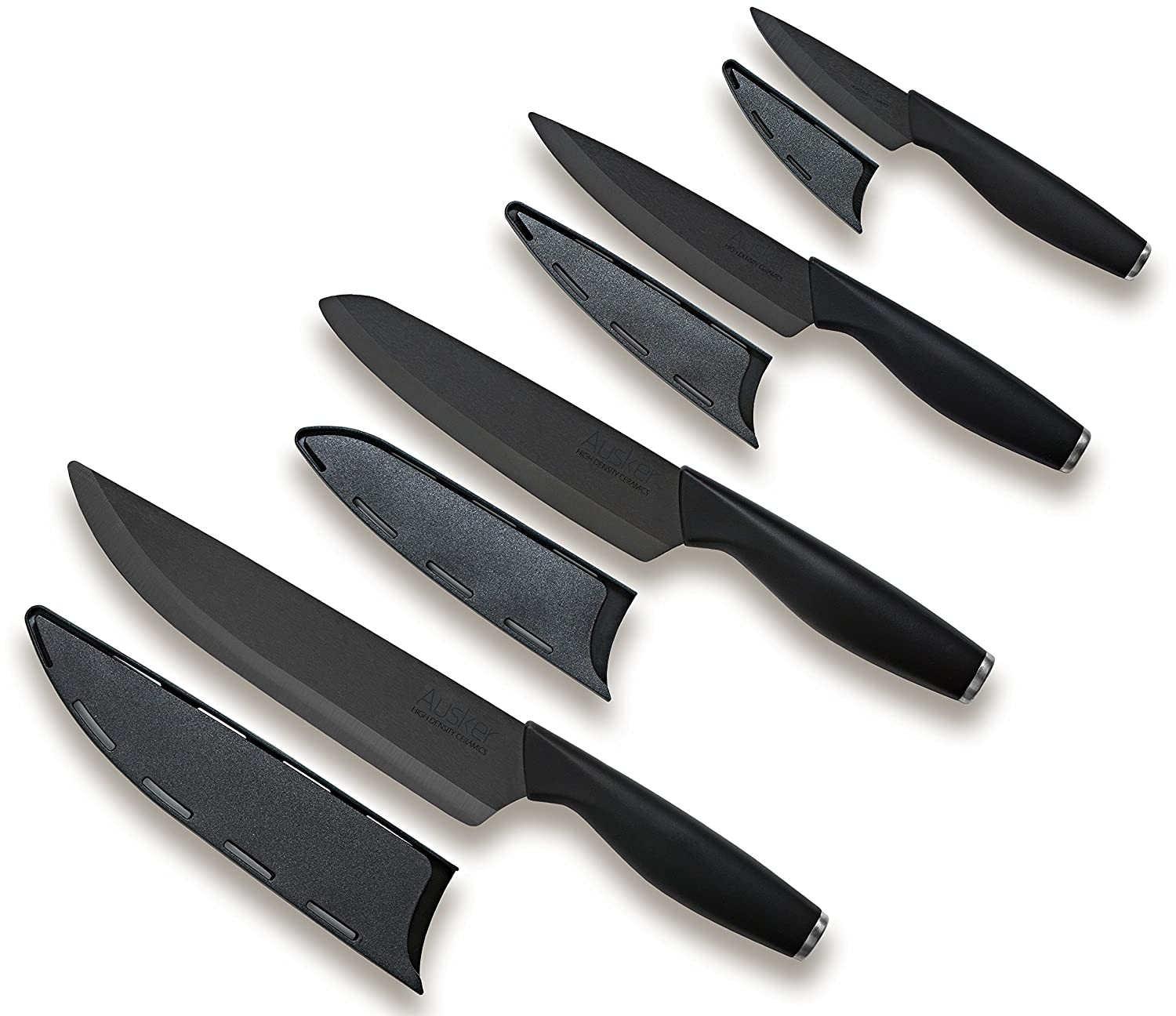 Ausker Ceramic Knife Set Kitchen Knives 4 Piece