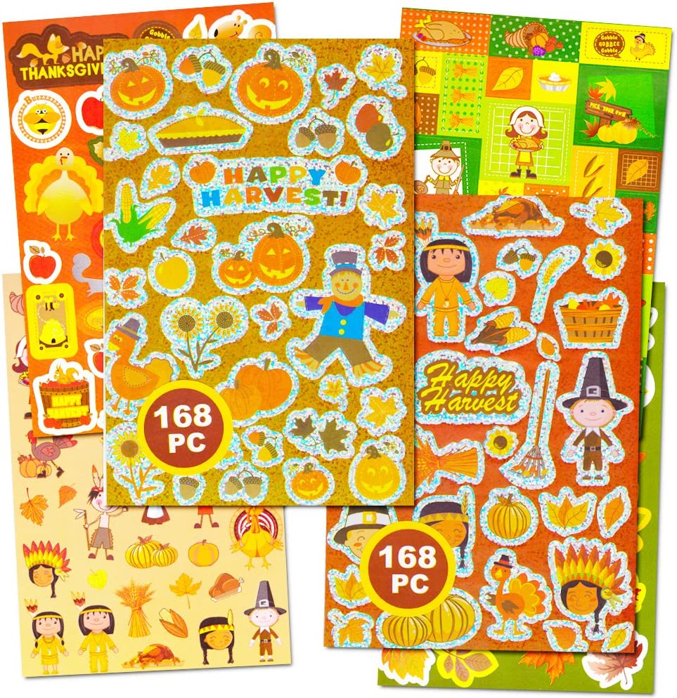 Party Favors, Decorations Crenstone Thanksgiving Stickers Party Supplies Pack Over 320 Autumn Harvest Stickers