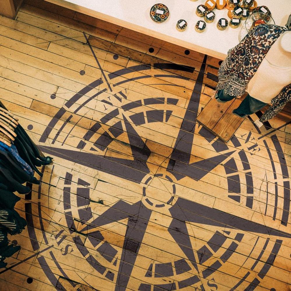 Traveler- Compass Rose Stencil - Reusable Stencil for Painting