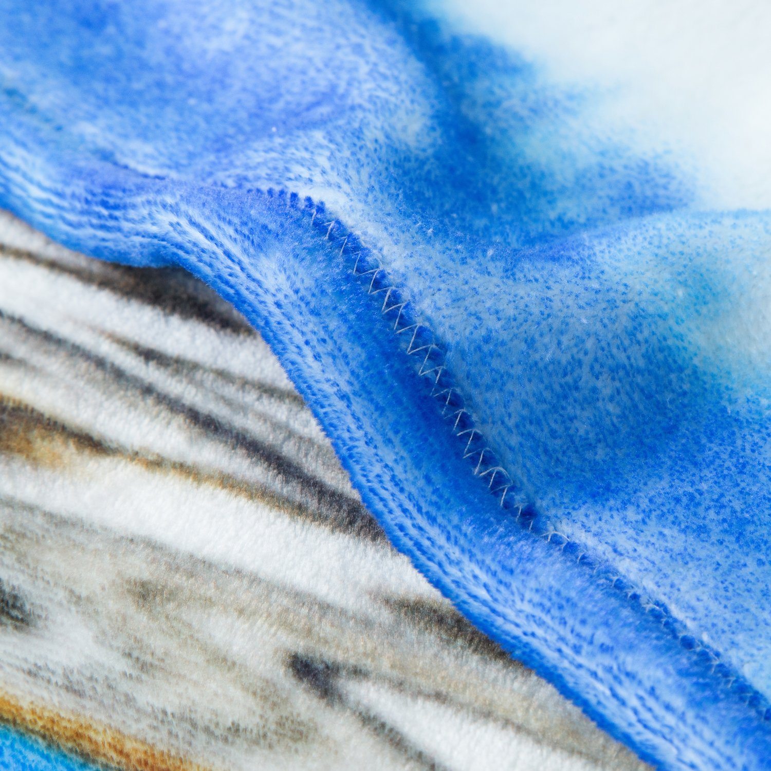 Multicolored Tiger Printed Throw Blanket - Luxury Flannel Fleece Throw Fuzzy Animal Blanket 50\