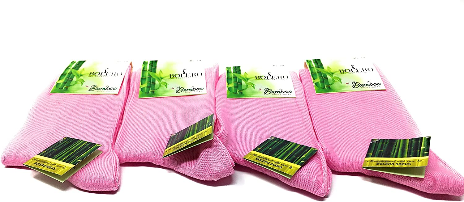 4 pairs Antibacterial 80% Bamboo Socks Breathable, Cycling, Bamboo Crew Socks, Bamboo Yoga Socks