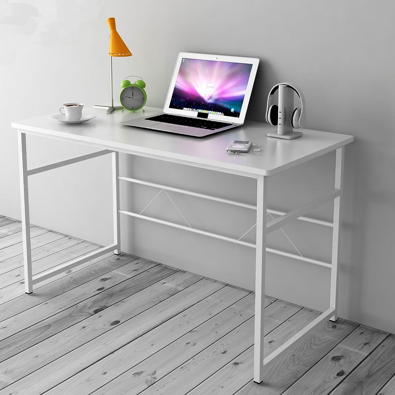 Cherry Tree Furniture Sleek Design Computer Desk Home Office Table W100 x D50 x H 72 cm (Black)