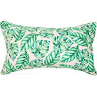 Blue Panda Inflatable Beach Pillow for Pools Travel Vacations, Tropical Leaves