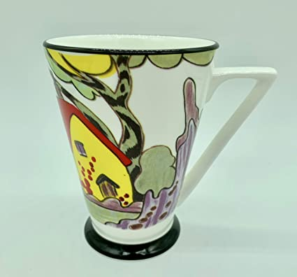 Delightful Art Deco Bone China Mug Amazon Co Uk Kitchen Home