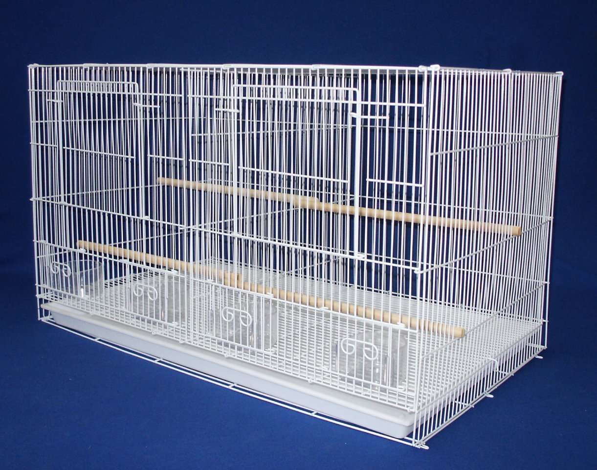 YML Small Breeding Cages with Divider, White YML GROUP INC 2434WHT