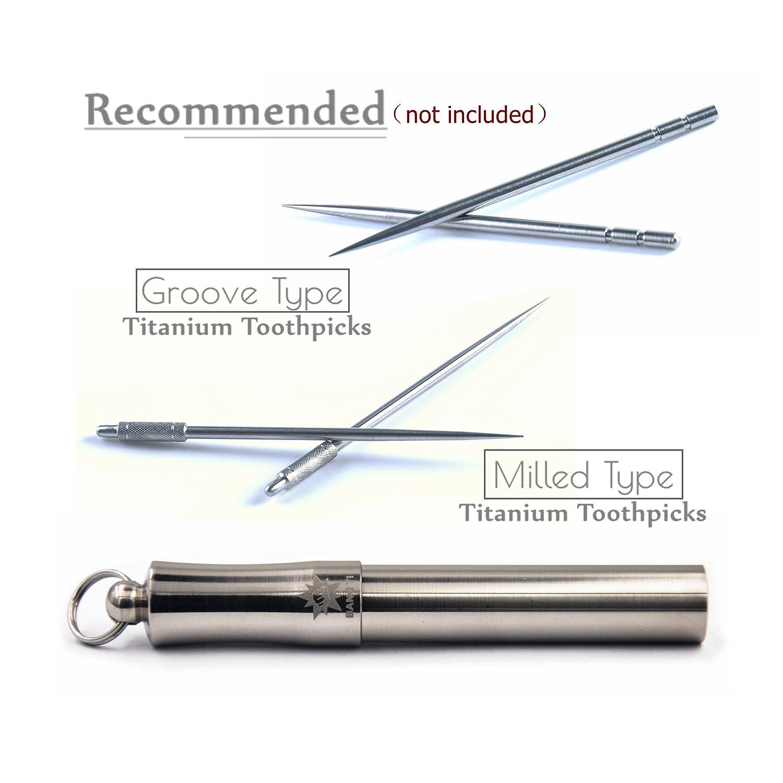 Milled, Bold, TM02 BANG TI BetterLife Titanium Reusable Toothpick Durable EDC Outdoor Tool