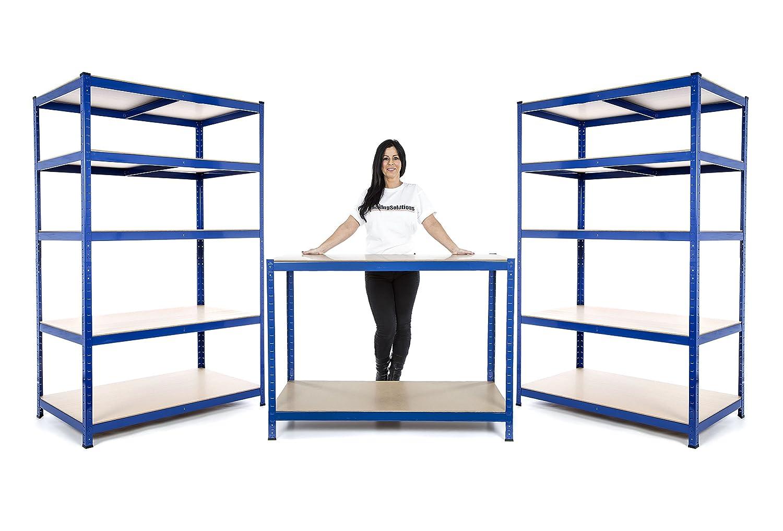 Small Business o garage starter kit 2di 1800mm H x 1200mm W x 450mm D scaffalature Bays & 1banco da lavoro + colore consegna il giorno successivo Racking Solutions