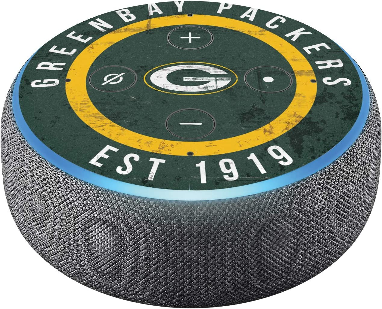 Head Case Designs Officially Licensed NFL Team Colour Distressed Green Bay Packers Matte Vinyl Sticker Skin Decal Cover Compatible with Amazon Echo Dot (3rd Gen)