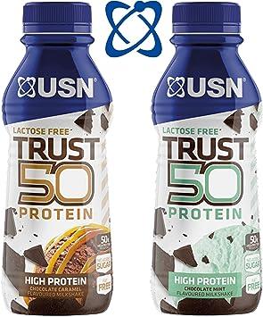 USN Trust 50 Proteína 6 X 500ML sin Grasas Sacudir Rtd ...