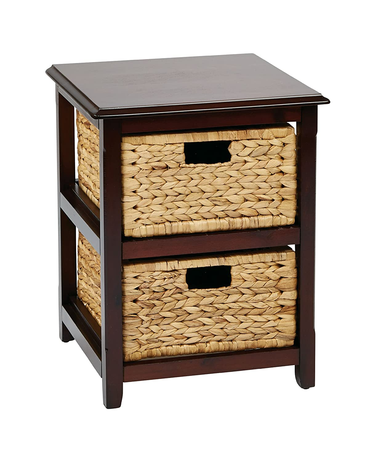 storage unit office. amazoncom office star seabrook 4tier storage unit with natural baskets espresso finish kitchen u0026 dining