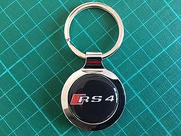 SCOOBY DESIGNS - Llavero de Metal para Audi RS4 con Caja de ...