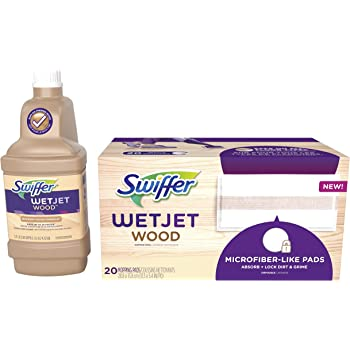 Amazon Com Swiffer Wetjet Wood Refill Bundle For Wetjet