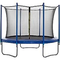 SPRINGOS Veiligheidsnet binnennet voor trampoline, 244 cm, 6 palen, valbeschermingsnet, bescherming, trampoline-net…