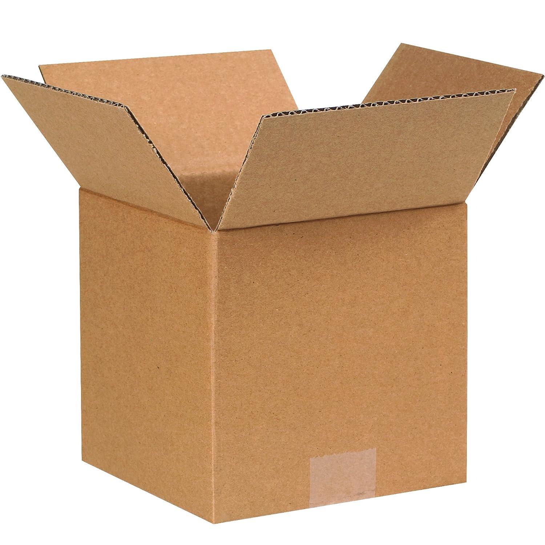 7 x 7 x 7 BOX USA B777W Corrugated Boxes Pack of 25 Kraft