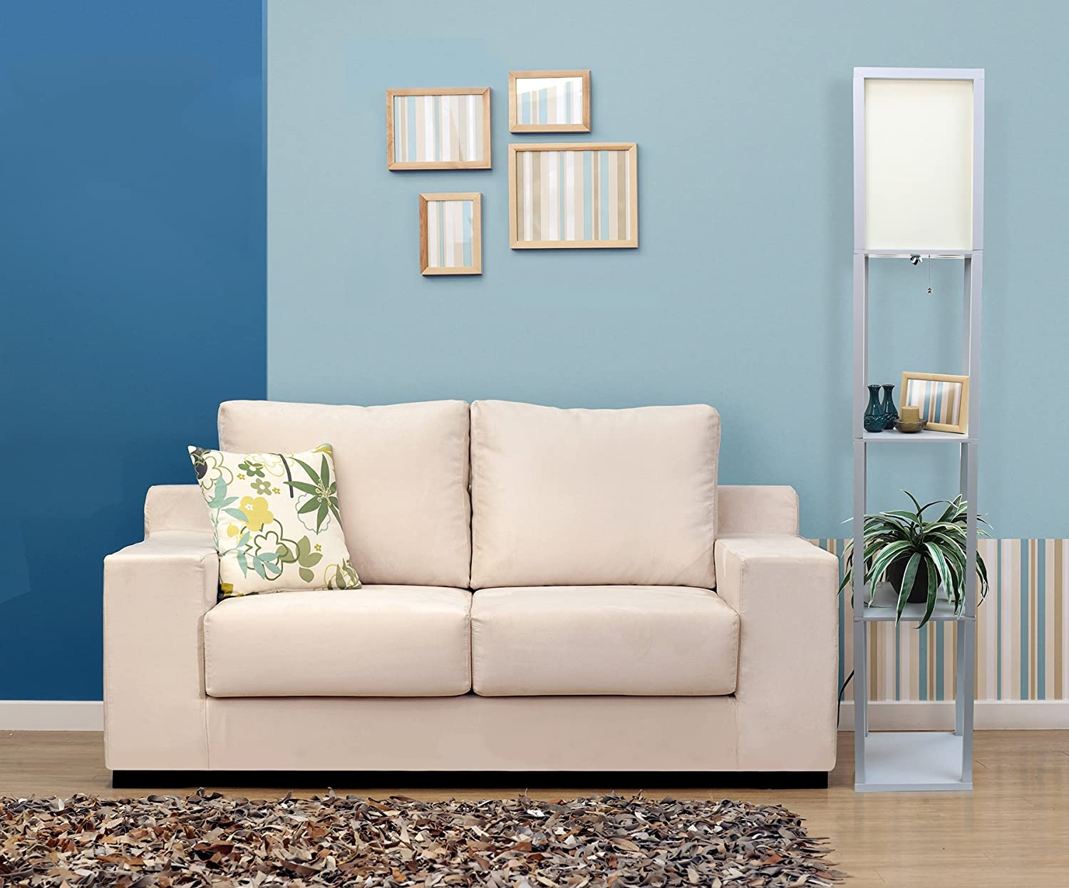 Furniture of america chaves contemporary 3 piece sofa set - Amazon Com Simple Designs Home Lf1014 Gry Floor Lamp Organizer Storage Shelf With Linen Shade Gray Home Improvement