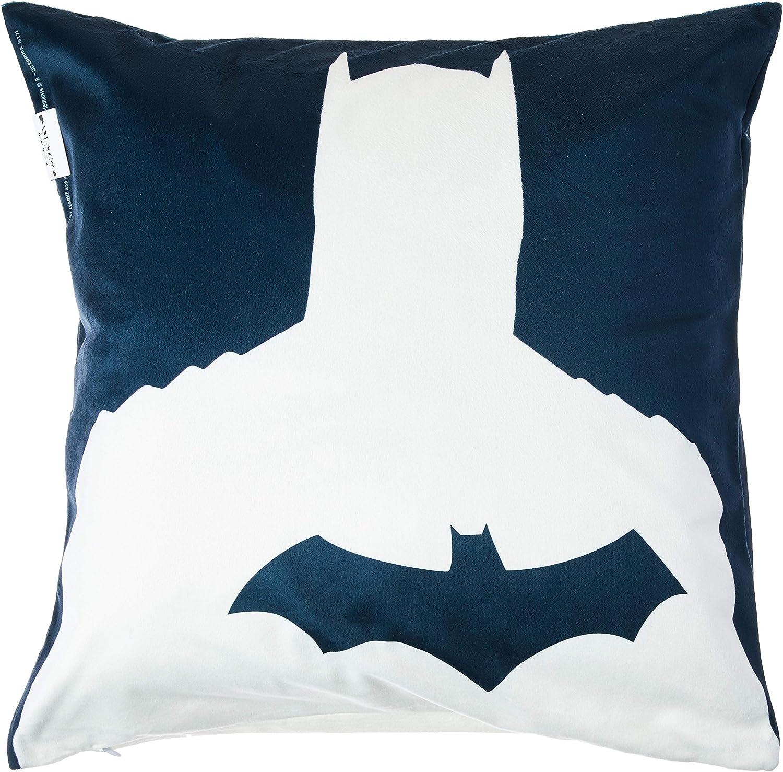 Capa de Almofada Poliéster Dc Liga da Justiça Core Batman Shadow Urban Preto