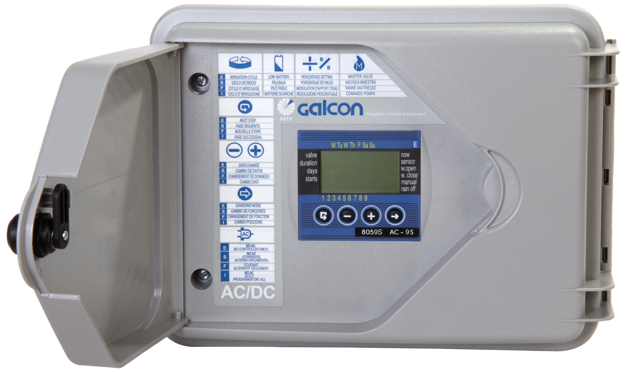 Galcon 8059S AC-9S 9-Station Indoor or Outdoor Irrigation Controller