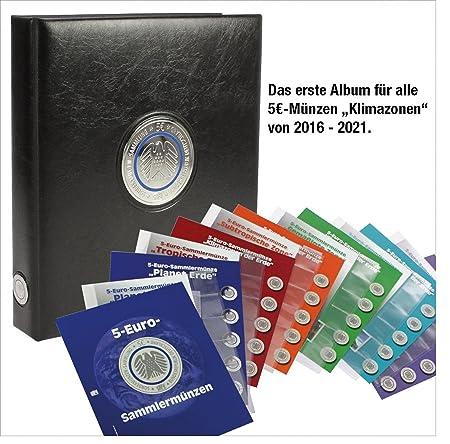 Safe 7360 Premium Münzalbum Deutsche 5 Euro Münzen Blauer Planet