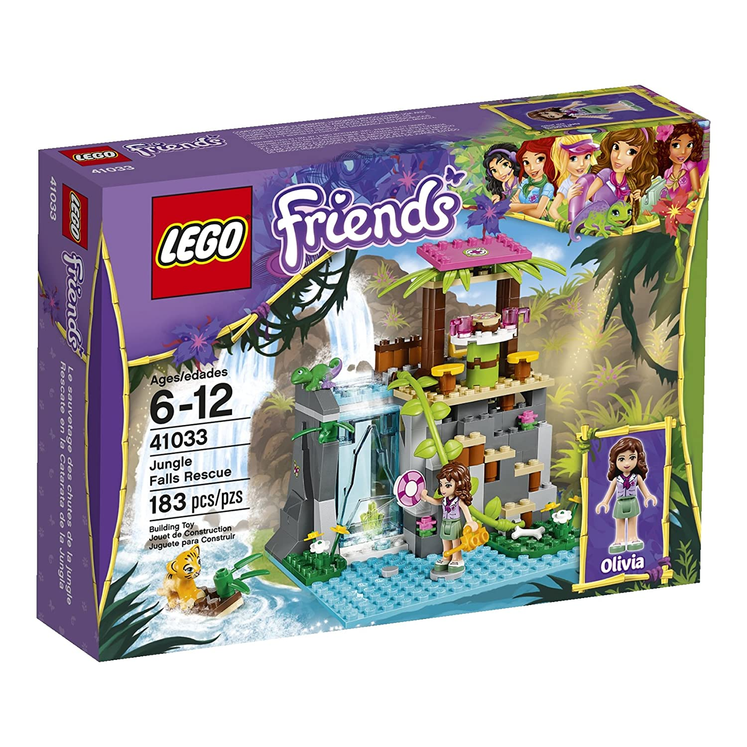 Amazoncom Lego Friends Jungle Falls Rescue 41033 Building Set