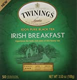 Twinings of London Irish Breakfast Black Tea Bags, 50 Count