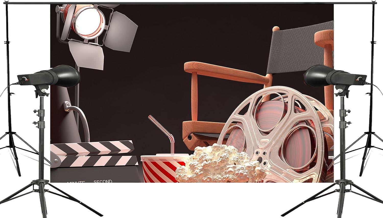 Carrete de película Fondo Proyector silla cola de palomitas cine ...