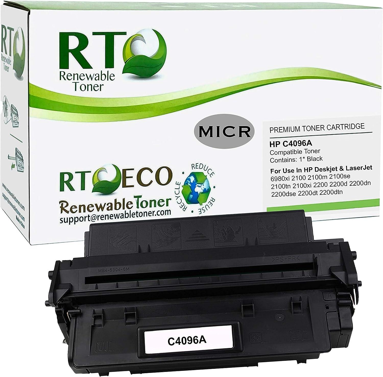 Renewable Toner 96A Compatible MICR Toner Cartridge Replacement HP C4096A for HP Laserjet 2100,2200 Series