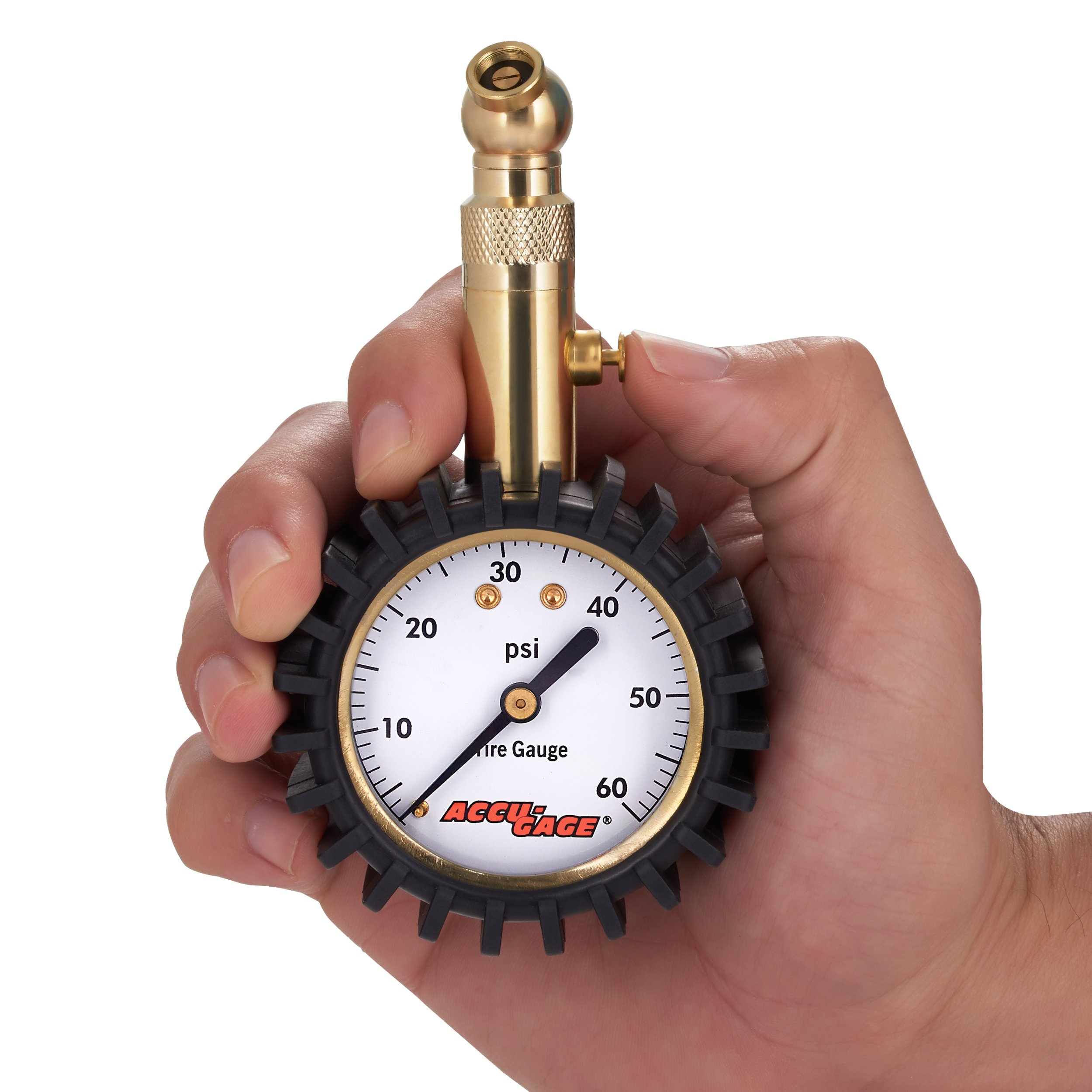 Accu-Gage RS60XA Professional Tire Pressure Gauge with Protective Rubber Guard (60 PSI) by Accu-Gage (Image #4)