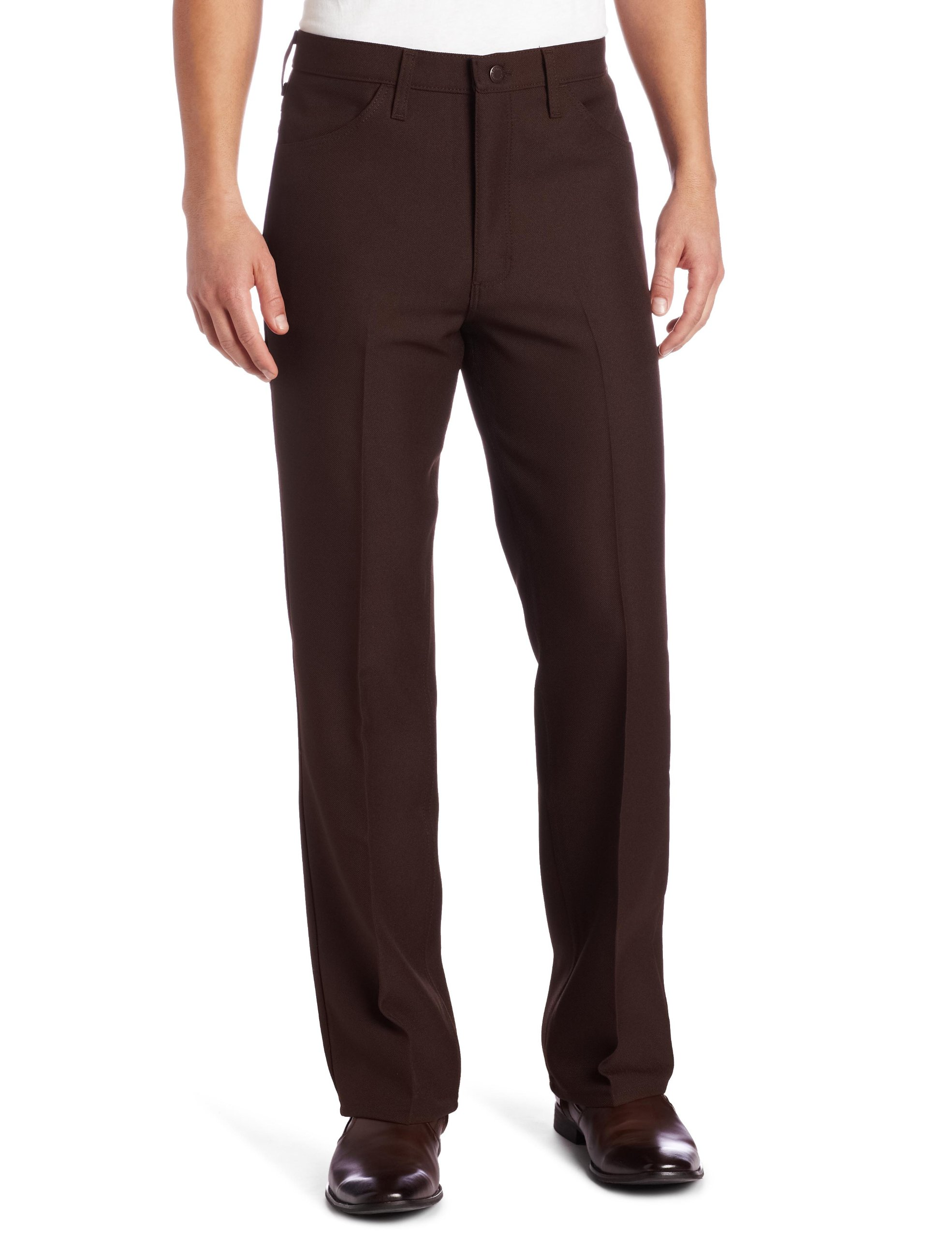 Wrangler Men's Big Wrancher Dress Pant, Brown, 44x32