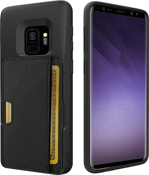 save off 3553c 86dd9 Silk Galaxy S9 Plus Wallet Case - Q Card CASE [Slim Protective Kickstand  CM4 Grip Cover] - Wallet Slayer Vol.2 - Black Onyx