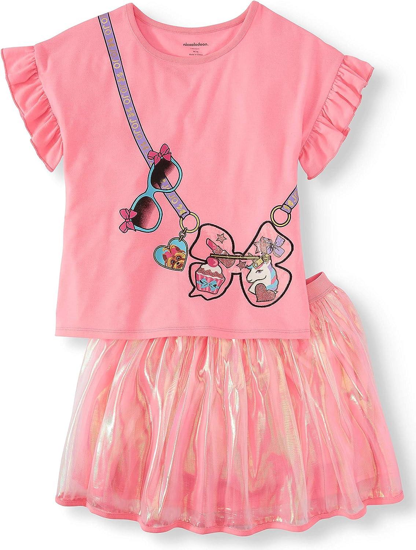 Girls JoJo Siwa Tutu Skirt and Shirt Set Outfit Clothes 2 pc