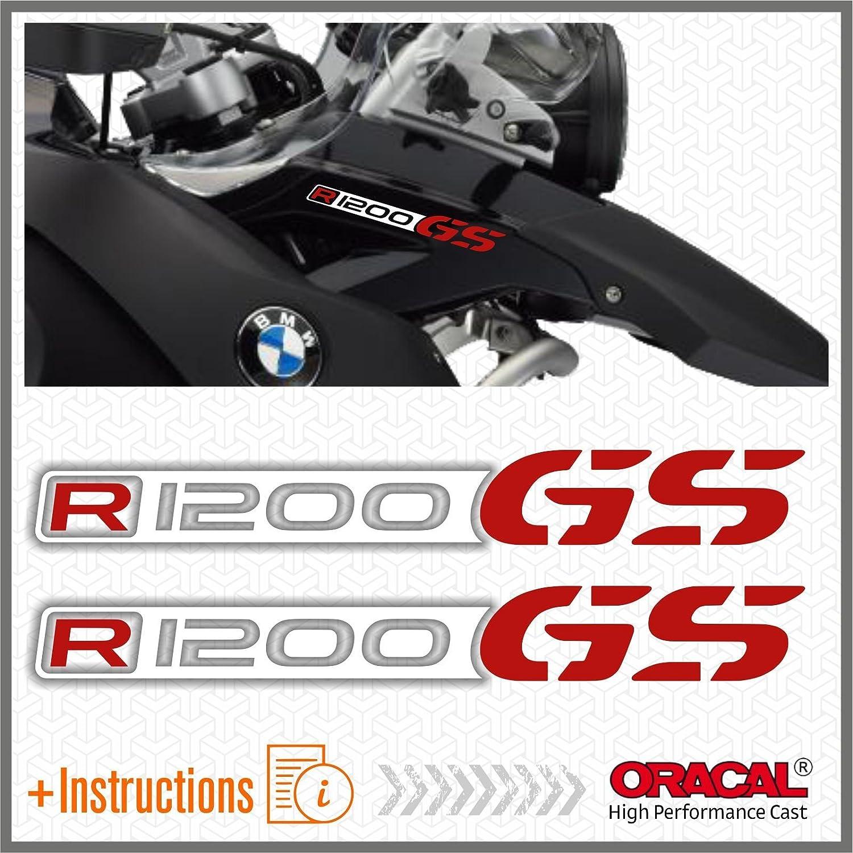 2pcs R1200 GS BMW Motorrad R 1200 Adventure ADESIVI R1200GS (White/Red) Black Doves Graphics