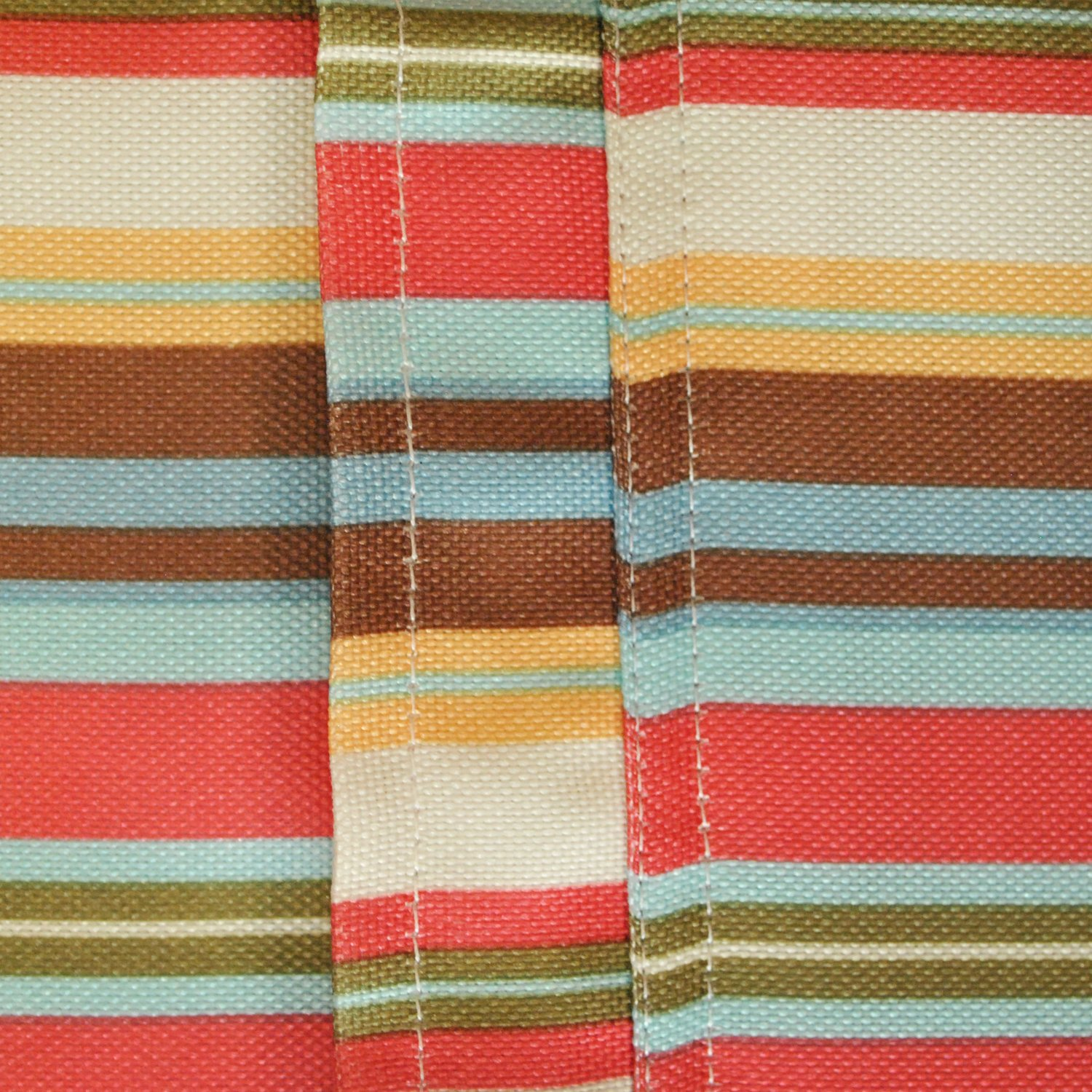 DII Spring & Summer Outdoor Tablecloth, Spill Proof and Waterproof with Zipper and Umbrella Hole, Host Backyard Parties, BBQs, & Family Gatherings - (60x84'' - Seats 6 to 8) Warm Summer Stripe by DII (Image #4)