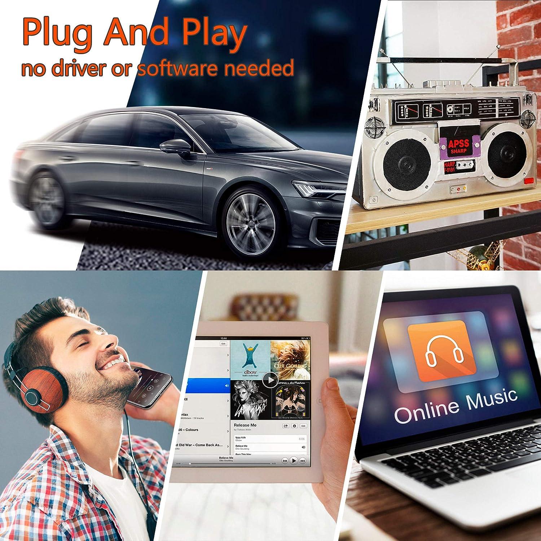 Black Tape Player Bluetooth 5.0 Cassette Aux Adapter Arsvita Car Audio Bluetooth Wireless Cassette Receiver