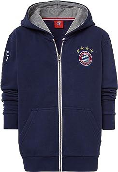 Pullover gratis Sticker M/ünchen Forever Kinder Hoodie FC Bayern M/ünchen Kapuzensweatshirts Sweatshirt