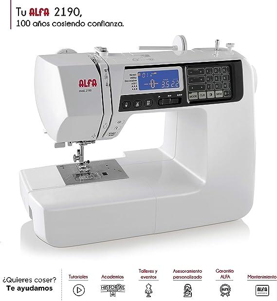 Alfa Modelo 2190-Maquina de Coser electrónica, Multicolor: Amazon ...