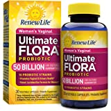 Renew Life - Ultimate Flora Probiotic Women's Care - 50 billion - probiotics for women - daily digestive and immune health supplement - 30 vegetable capsules