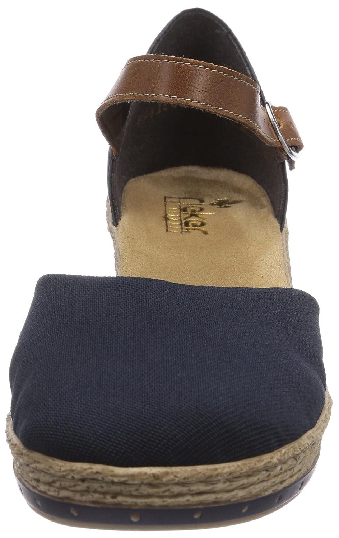 Rieker 60451, Sandali a punta chiusa Donna Blu Blu Donna Pazifik/Amaretto/Denim) 713ff1