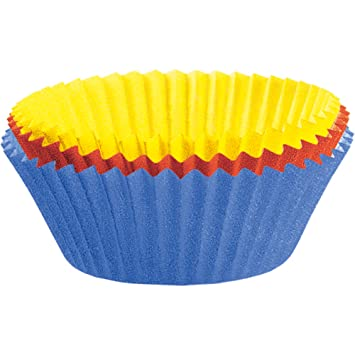 Kaiser Maxi-Muffin-Papierbackförmchen 80 Stück farbig sortiert Ø 8,5 ...