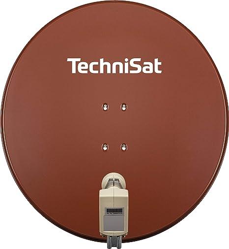 Technisat Satman 850 Plus Satellitenschüssel Für 4 Teilnehmer 85 Cm Sat Spiegel Mit Masthalterung Und 40mm Universal Quattro Switch Lnb Rot Heimkino Tv Video