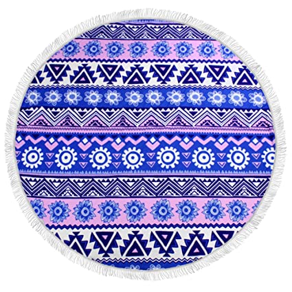 Arce & Home Custom de Bohemia patrón redondo toalla de playa deportes al aire libre