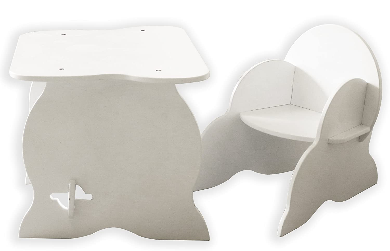 Room studio mon premier bureau table fauteuil bois blanc